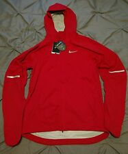 Nwt $250 Mens Small Nike Shield Runner Running Jacket 689473-657 Red Storm Fit S