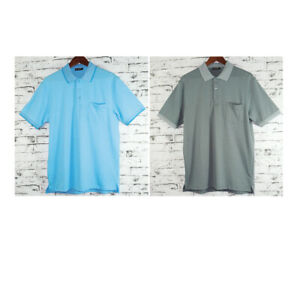Mens Adult Polo Shirt With Jacquard Design 90% Cotton 10% Polyester Single Side