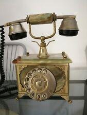 TELEFONO FISSO VINTAGE IN MARMO E OTTONE