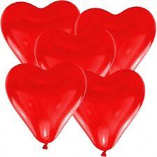 Paquete de globos corazon hinchables latex pack de 5 unidades amor boda rojo
