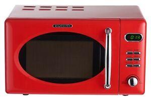 Wolkenstein Microwave Red Retro 700 Watt 676.3oz Nostalgia Handle Chrome Display