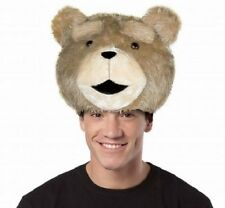 TED Movie Teddy Bear Mascot Plush Animal Cute Costume Cosplay Hat Head Accessory