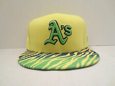 NEW ERA MLB OAKLAND ATHLETICS CRACKLE VIZE FITTED CAP HAT SIZE 7 1/8 YELLOW