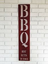 BBQ Sign, Best Butts In Town, Dad Gift, Outdoor Grill Sign, Gift for Him, Cave