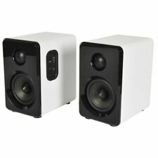 AV Link ABS35 Active Bluetooth Bookshelf Speakers (pair, white)