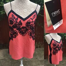 Next Size 8 Top Peach Beaded Floral Summer Strappy BNWT RRP £24 Delicate Sexy