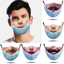 Outdoor Funny 3D Printed Face Mask Protection Cover Reusable Washable Breathable