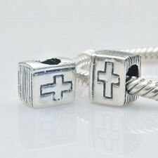 Bible Charm Bead 925 Sterling Silver