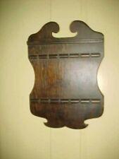 Wood Vintage Souvenir Spoon Holder Display Rack 12 Slots