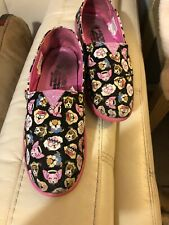 Skechers Lil Bobs Girls Pink Puppy Shoes Sz 4