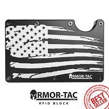 RFID BLOCK Wallet Minimalist Front Pocket Slim Money Clip ARMOR-TAC ridge style