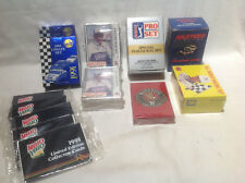 NASCAR, PGA CARDS-1990-1991-MASTERS OF RACING,ALL WORLD,MAXX,HOT STUFF-ALL NEW