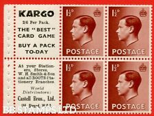 Sg. 459a. Pb5 (6). 1½d Red - Brown. A fine Unmounted Mint booklet pane o B48616