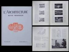 L'ARCHITECTURE 1933 LYON CITROEN, EGLISES AISNE MARNE, ETIENNE SALLE, BNF PARIS