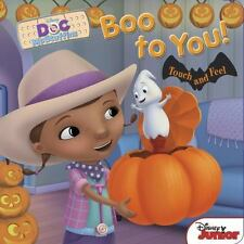 Disney Doc McStuffins Boo to You! Touch and Feel Halloween Board Book Ages 3-5