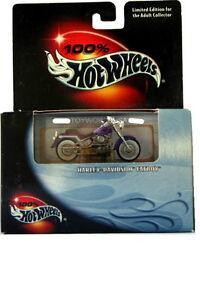 '00 100% Hot Wheels Harley-Davidson Fatboy Purple