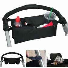 BLACK Cup Holder Organizer TO FIT Bugaboo Cameleon Baby Stroller Diaper Phone