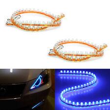 2pc Blue Led Strip Digital Bulb Diode Lamps Car DRL Lighting Tape Bar Waterproof