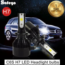 2X H7 LED Car Headlight 12V 60W 6400LM Whit 6000K Auto Car Kit COB Bulbs