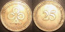 Portugal - Ficha de Casino - Monte Gordo Algarve - 25 Escudos 1971/1994