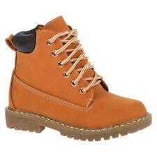 Calzado de niña Botas, botines de color principal marrón de piel