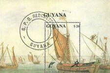 Timbre Bateaux Guyana BF59 o lot 8886