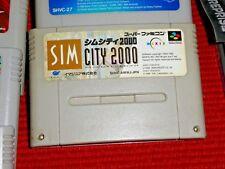 GAME/JEU SUPER FAMICOM NINTENDO NES JAPAN SIM City 2000 SHVC-AWWJ-JPN JAPAN BE
