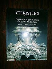 CHRISTIE'S ROMA-IMPORTANTI ARGENTI, ICONE E OGGETTI D'ARTE RUSSA 1999