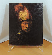 THE MAN WITH THE GOLDEN HELMET by Rembrandt Mid Century Modern DAC Lithograph