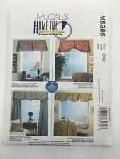 McCalls Pattern 5286 Home Dec In-A-Sec Valance Curtain