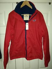 Men's Hollister Large Red Shell Jacket - BNWT