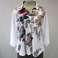 NEW NWT Parsley & Sage Women Plus Size Helen Shirt Jacket Plum Blouse 1X