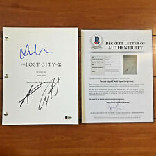 LOST CITY OF Z SIGNED FULL MOVIE SCRIPT BY 3 CAST - CHARLIE HUNNAM TOM HOLLAND