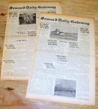 2 original 1926 newspapers SEWARD DAILY GATEWAY Alaska Territory - 87 years old