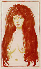 Munch Prints: Woman with Red Hair & Green Eyes and Sin - 3 Fine Art Prints