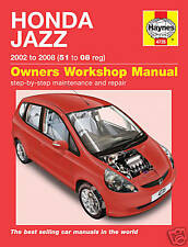 Haynes Honda Jazz 1.2 1.4 2002-2008 Manual 4735 NEW