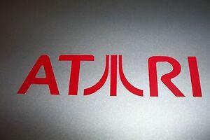 "NEW ""ATARI"" Logo Vinyl Decal Sticker WHITE 5"""