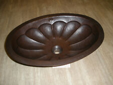 Hammered Copper Oval Lavatory Sink Basin Undermount NEW  rustic Bathroom