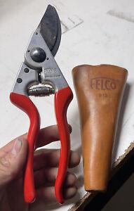 Felco 8 Ergonomic Hand Pruner Bypass Pruning Shear F8 W/ Leather Sheath