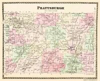 Prattsburgh New York - Beers 1873 - 23.00 x 28.36