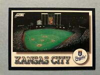 1994 Score Kansas City Royals  Team Card & Checklist card #323