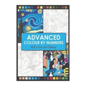 A4 Advanced Colour by Numbers Colouring Book  - P2859