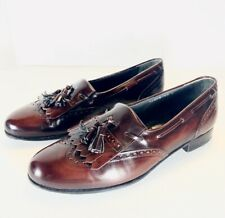 Alfani Mens Leather Tassell Loafer Wingtip Dress Shoe Size 10M Made In Italy