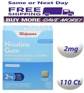 Walgreens Nicotine Gum, 2mg Original 110 Count Compared to Nicorette Exp 6/23