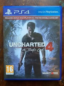 Uncharted 4 A Thief's End PS4 Action Aventure Jeu Pour Sony PLAYSTATION 4