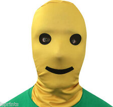 BUILDING BLOCK SMILEY 3D EFFECT LYCRA FACE MASK SCARY HALLOWEEN FS107
