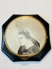 Vintage Octagonal Bigouden Traditional Breton Headdress Powder Compact