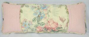 New Pillow made w Ralph Lauren Winter Garden Floral & Gwen Pink Gingham Fabric