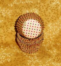 Tan Dots, Wilton Mini Bake Cups, Cupcake Papers,100 ct. Wilton.415-7072,Brown