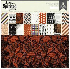 Authentique 12x12 Halloween Theme Paper Pad - Spirited